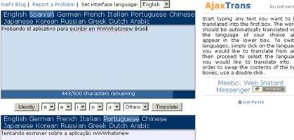 Ajaxtrans: Tradutor On-line
