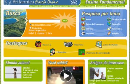 Enciclopédia Britannica Escola Online em português