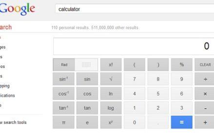 Dicas do Google: Ferramentas matemáticas